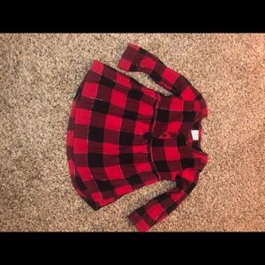 3T flannel blouse